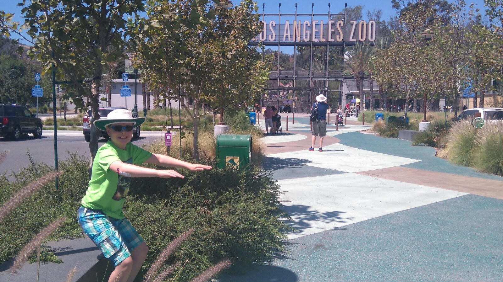 One of our youngest clients practicing his moves at Disneyland!
