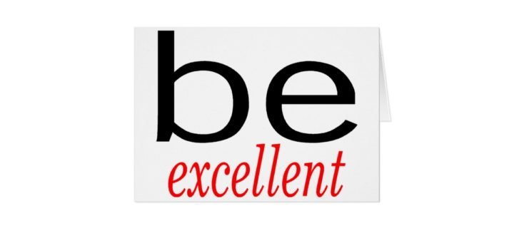 Don't be afraid to be excellent